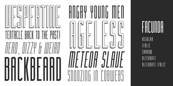 Facunda free font