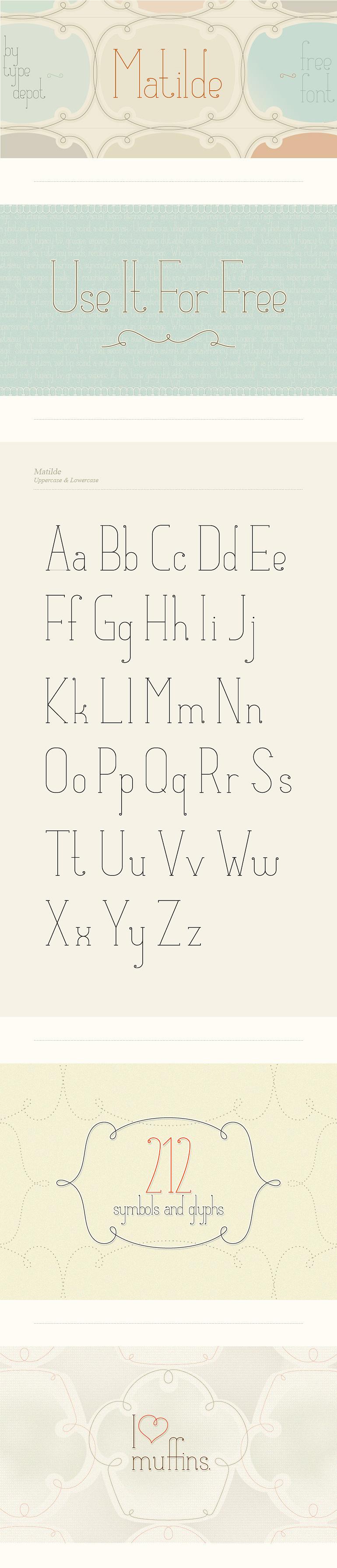 matilde free font